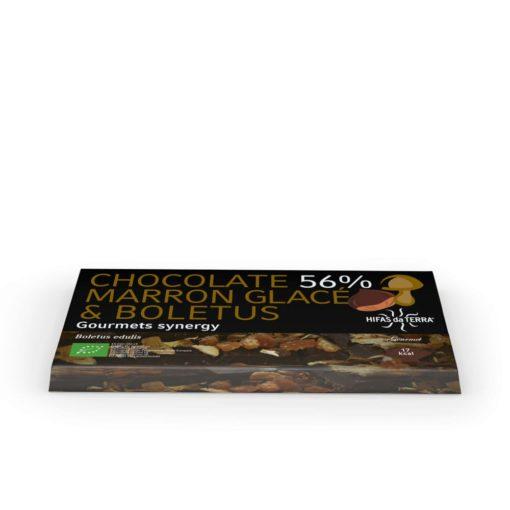 Chocolate eco raw con boletus y marrón glacé