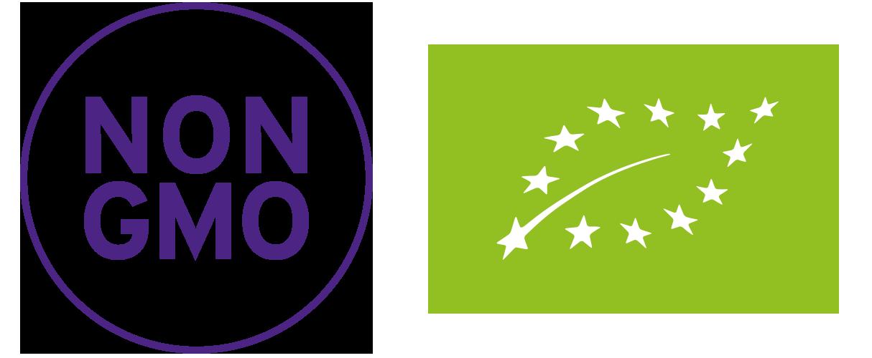 Sellos NON GMO y Producción ECO certificada